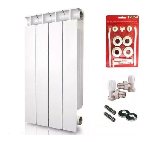 radiador peisa tropical 500 + kit conexión completo + cuotas