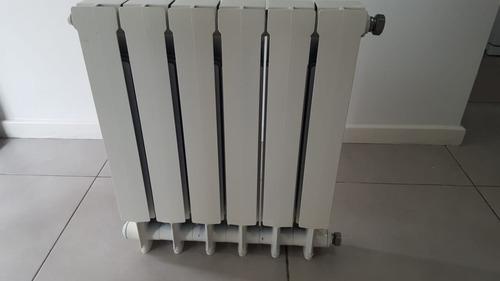 radiador peisa,seis elementos con kit instalacion completo
