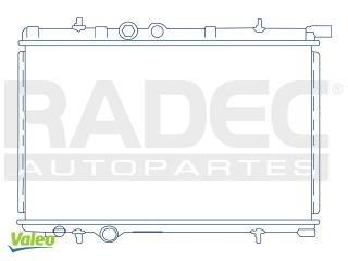 radiador peugeot 206 1998-1999-2000 l4 1.1/1.4/1.6lts estand