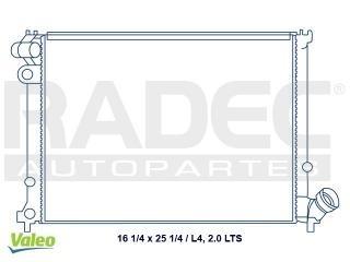 radiador peugeot 406 2001-2002 l4 2.0 lts c/aire estandar