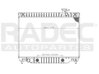 radiador pontiac montana 2002-2003-2004-2005 l6 4.2 lts auto