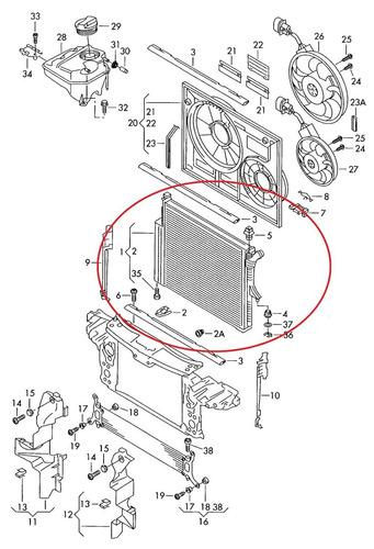 radiador porsche cayenne 3.2 v6 2002 a 2007 original