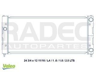 radiador seat ibiza 1993-1994-1995 1.8 lts s/a 12 p estandar