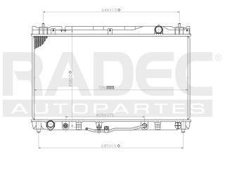 radiador toyota camry 2002-2003-2004 v6 3.0/3.3l automatico