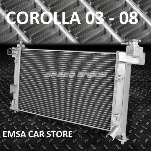 radiador toyota corolla 03 - 08 doble fila     manual