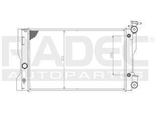 radiador toyota matrix 2009-2010-2011-2012 l4 1.8 lts auto