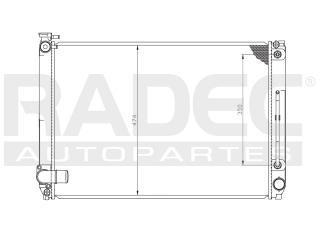 radiador toyota sienna 2006-2007 v6 3.3 lts automatico
