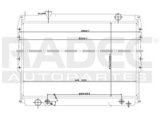 radiador toyota tacoma 1995-1996-1997 l4/v6 2.7/3.4 lts auto