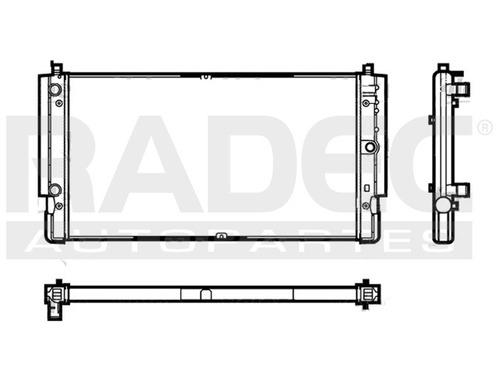 radiador  transporter 96-03 1.9/2.5 lts estandar