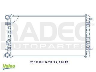 radiador volkswagen beetle 1998-1999 l4 1.8/2.0l c/aire aut