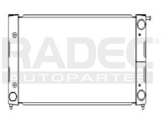 radiador volkswagen caribe 1987 1.6/1.8 ml4 s/aire std