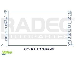 radiador volkswagen derby 1996-1997-1998 l4 2.0 lts estandar