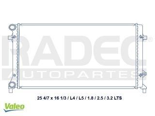 radiador volkswagen golf 2006-2007-2008 l4 2.5 lts estandar