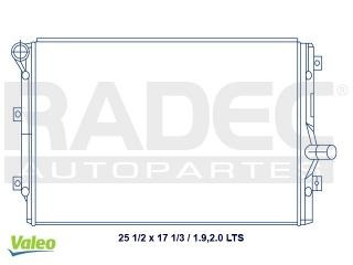 radiador volkswagen golf 2008-2009 l4 1.9 y tdi 2.0lts std