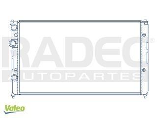 radiador volkswagen jetta 1998-1999-2000 l4 1.6/1.8 lts aut