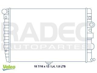radiador volkswagen pointer 1999-2000 l4 1.8 lts c/aire std