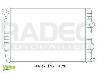 radiador volkswagen pointer 2005-2006 l4 1.8 lts c/aire std