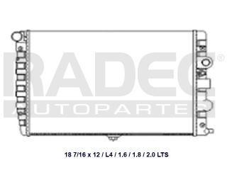 radiador volkswagen pointer 2006-2007-2008 l4 1.8 lts std