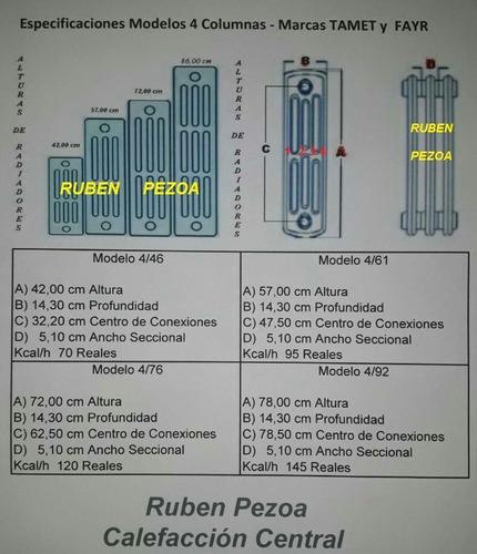 radiadores antiguos fundicion - calderas ruben pezoa