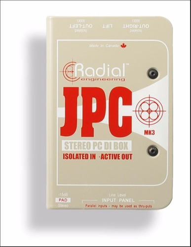 radial caja directa jpc laptop stereo