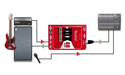 radial jdx 48 amplificador directo de caja
