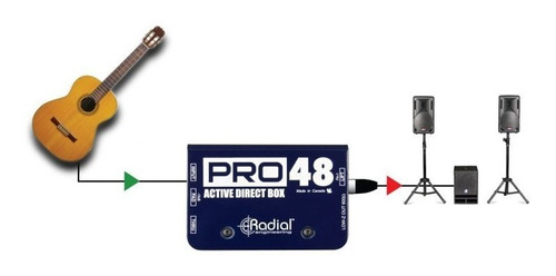radial pro48 caja directa activa
