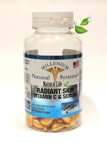 radiant skin vitamin c & serum 60 twist cap  natural system