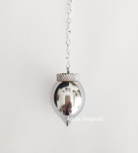 radiestesia pêndulo testemunho mermet em metal cromado