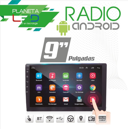 radio 9 pulgadas android 8.1 pantalla bluetooth gps mp5 mp3