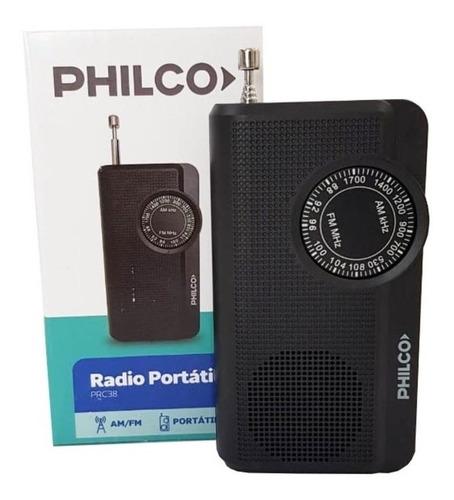radio a pilas philco am/fm prc38 antena telescópica