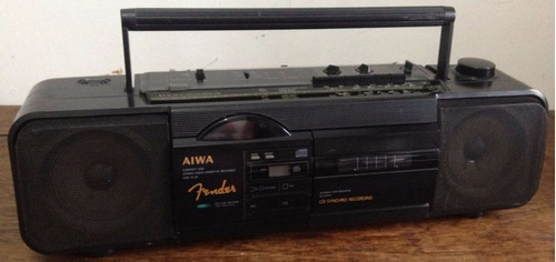 rádio aiwa csd xl25 vintage - leia o anuncio
