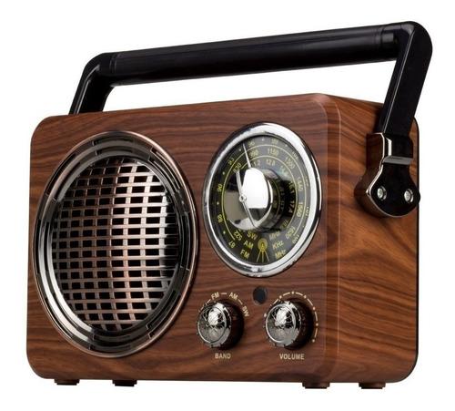 rádio am fm bluetooth retrô caixa de som cmik mk-612