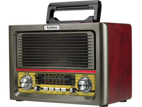 radio am fm bluetooth retro vintage usb bateria controle aux