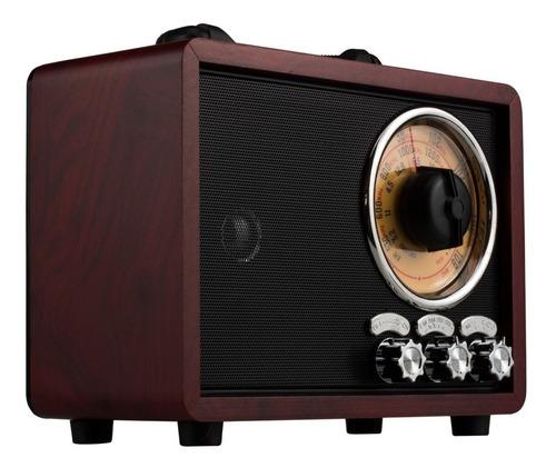 radio am fm bluetooth vintage retro 4 bandas caixa som usb
