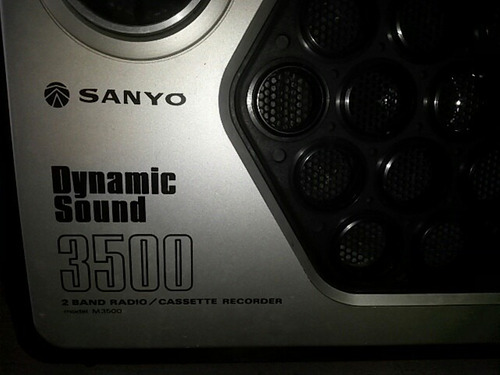 radio am fm sanyo dynamic sound 3500
