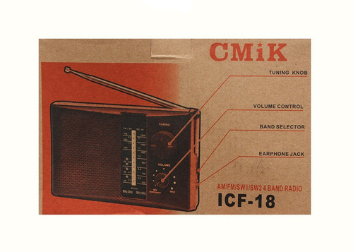 radio am fm sw1 sw2 reproductor musica parlante pilas icf-18