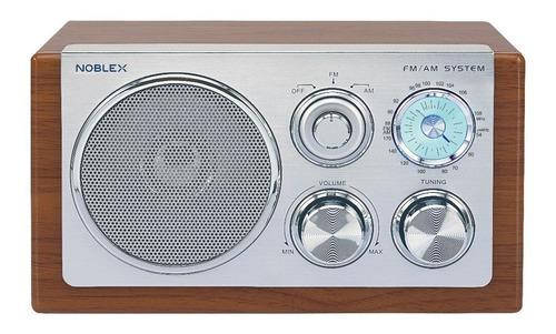 radio am fm vintage noblex rx 40m diseño madera y aluminio