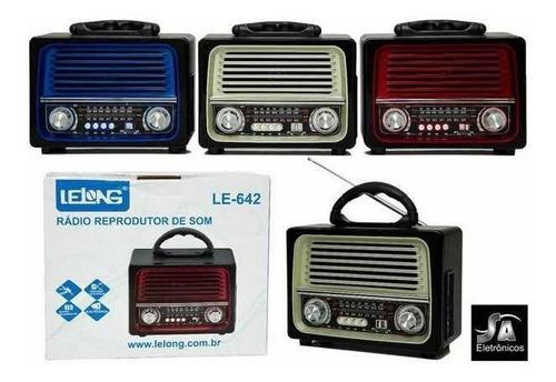rádio am/fm bluetooth retro le-642