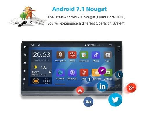 radio androit gps doble dinpantalla 7'' full touch bluetoth