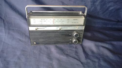 radio antigo portátil semp tr 600 fm a pilha frete grátis