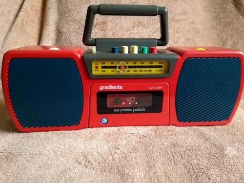 rádio antigo tocafitas gradiente