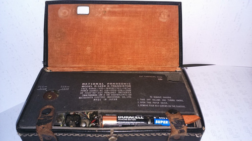 radio antigua national panasonic pilasy220 japan funcionando