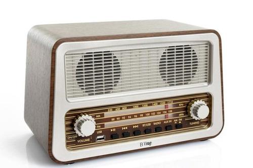 radio antigua vintage con funcion bluetooth y entrada usb