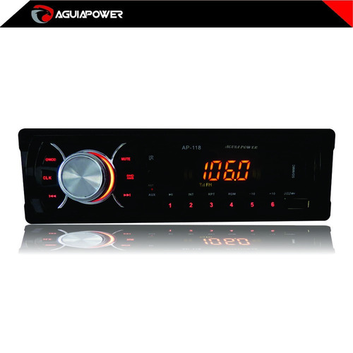 rádio ap-118 - mp3/usb/sd/am/fm com controle remoto