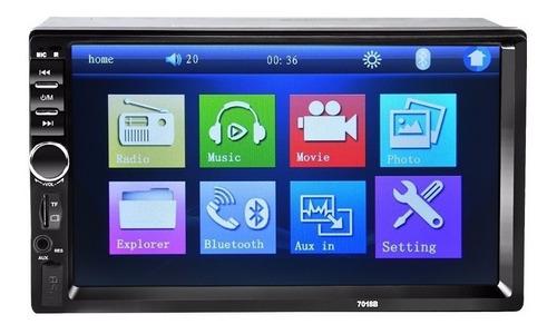 radio auto 2 din mirror link bluetooth + comando al volante