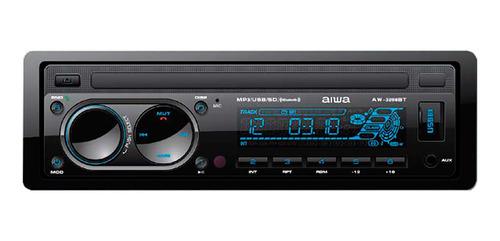 radio auto aiwa aw-3298bt desmontable bluetooth usb amv
