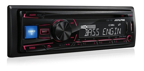 radio auto alpine cde-150 am fm cd usb