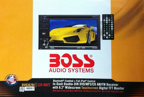 radio auto boss tactil dvd / cd mp3 radio am / fm con 7