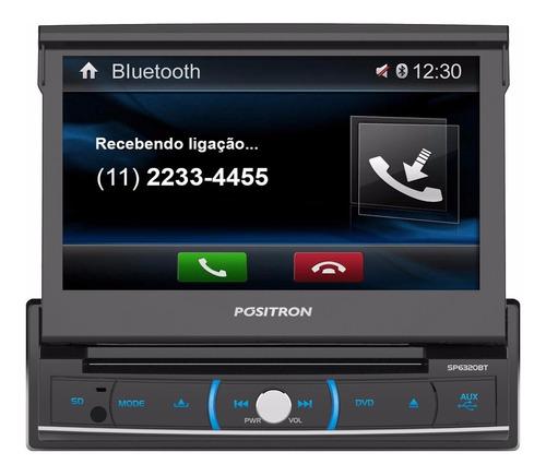 radio auto multimedia pósitron sp6320bt 7'' dvd usb bt sd