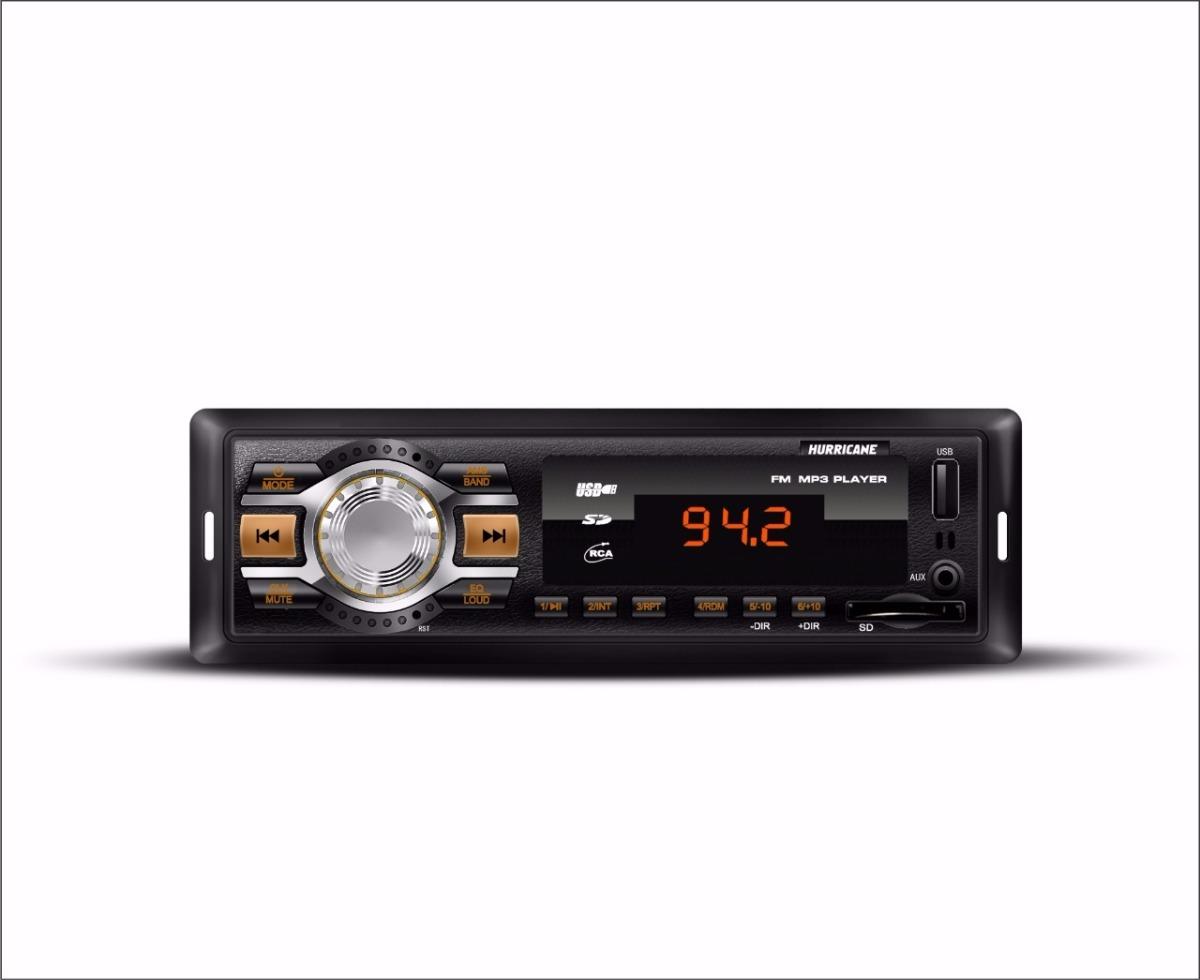 Radio Automotivo Mp3 Player Hurricane Hr 412
